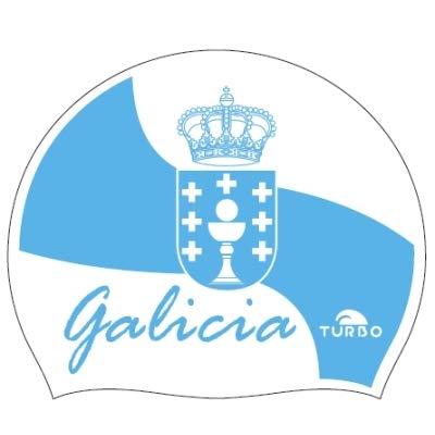 Turbo Gorro Natación Silicona Galicia Flag 9702012 Silicone Cap