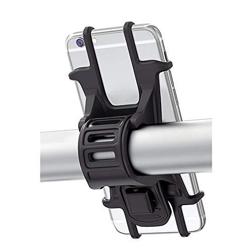 Suszian Fahrrad Handyhalter, Fahrrad Handyhalter Silikon Verstellbarer Fahrradhalter für Smartphones mit Bildschirmgröße 4,5-6,0 Zoll (Schwarz)