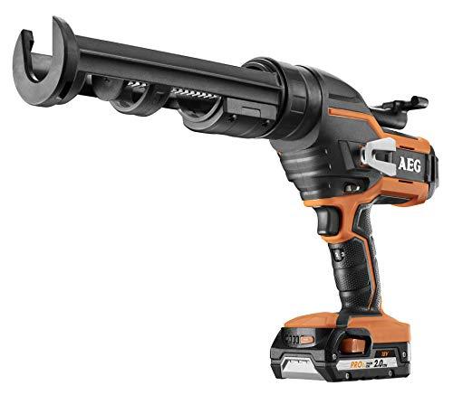 AEG BKP18C-310 LI-201B 4935471247 Pistolet à cartouche 18 V 6 vitesses Mécanisme anti-goutte avec batterie 2,0 Ah