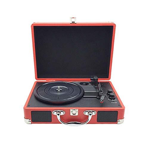 L.Z.HHZL Bolars Roja del gramófono del Tocadiscos portátil