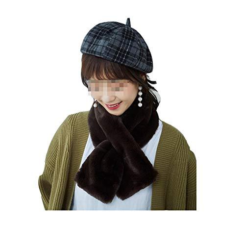GFBVC Bufanda De Invierno Billar de Invierno Babero Mujer otoño e Invierno Collar de Invierno Collar de Invierno Simple y cómodo Calentar (Color : Black, Size : 85x13cm)