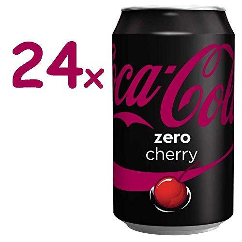 Coca Cola Zero Cherry 24 x 0,33l Dose (Coke Zero Cherry)