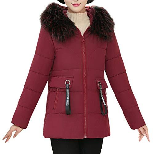 FRAUIT bontkraag capuchon moer korte jas ritssluiting donsjas dames winter jas gewatteerde parka winterjas warm gevoerd hoge kwaliteit outwear kan als geschenk worden gebruikt