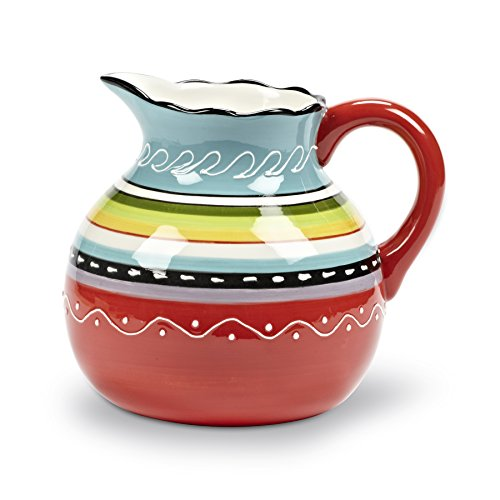 Abbott Collection Colourful Belly Pitcher, 65 oz.