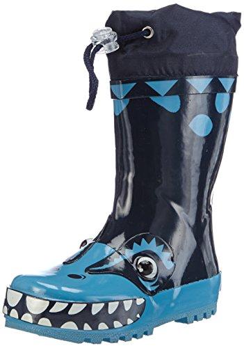 Playshoes, Stivali di gomma per la pioggia, altezza metà polpaccio motivo Dinosauto Bambino, Blu (Blau (original 900)), 22-23