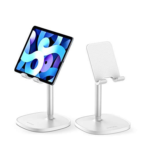SmartDevil Soporte Tablet, Ergonómico Soporte Móvil Mesa para 4 a 11', Multiángulo Soporte para Movil, Compatible con iPad, Switch, Huawei, XiaoMi, Antideslizante Soporte para Tablet Cama-Blanco