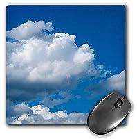 3dRose Mouse Pad Cumulus Clouds, Blue Sky, Sunny Summer Day, 8 x 8' (mp_271920_1) [並行輸入品]