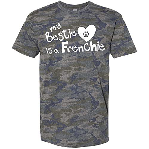 inktastic Bestie Frenchie T-Shirt X-Large Vintage Camo 263d5