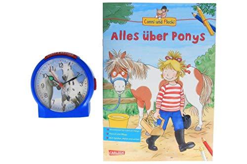 Atlanta kinderwekker zonder tikken paarden met leerboek Conni boek Alles over Ponys - 1189/5 BU