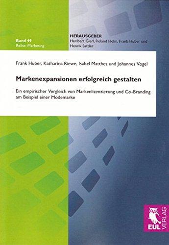 Markenexpansionen erfolgreich gestalten: Ein empirischer Vergleich von Markenlizenzierung und Co-Branding am Beispiel einer Modemarke (Marketing)