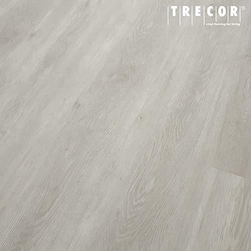 TRECOR Klick Vinylboden RIGID/Designboden Massivdiele 5 mm stark mit 0,5 mm Nutzschicht - Sie kaufen 1 m² - WASSERFEST - Bitte gewünschte Menge eintragen (Vinylboden, Trend Oak white)