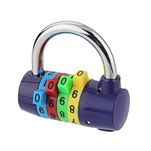 YUnnuopromi Sicherheitsschloss für Koffer, 4-stellig, mit Zahlencode, Mehrfarbig