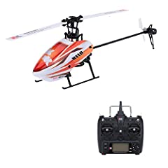 Flybarless CP helicopter, aerodynamically designed to achieve unparalleled stability; High efficient brushless motor, using 1106 outer brushless motor, more powerful. Transmitter supports switching between 3-axis & 6-axis gyro modes; Transmitter has ...