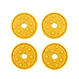 Replacement Parts for Imaginext Pizza Planet - Toy Story Buzz Lightyear and Pizza Planet Truck Playset GFR98 ~ Replacement Projectile Discs ~ Includes 4 Yellow Discs