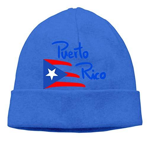 XCNGG Gorro de Punto Gorro de Lana Unisex Puerto Rico Knitting Hat, Warm Skiing Cap
