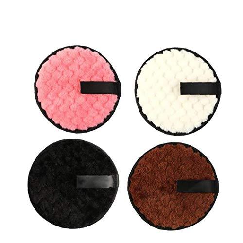 Desmaquillador de tela de ratón soplo de doble cara de forma instantánea sólo con agua Toallitas para scrubbedser facial 4PCS Productos de Belleza