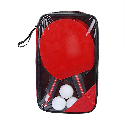 Save %9 Now! Liyeehao 2-Player Ping Pong Paddles, Table Tennis, Poplar Wood & Rubber Shake-Hand Grip...