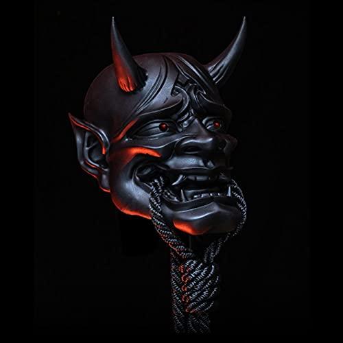 Dan&Dre Prajna - Máscara de samurai para Halloween, terror, japonesa de samurai, guerrero, asesina, Ghost Demon, cubierta de látex, máscara de cara completa