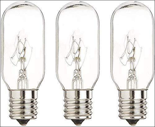40 Watt Microwave Bulb GE - Microwave Light - Fits Most GE and Whirlpool Ovens - E17 Intermediate Base Bulb - 40 Watt 130 Volt Appliance Bulb - 3 Pack - Luvvitt