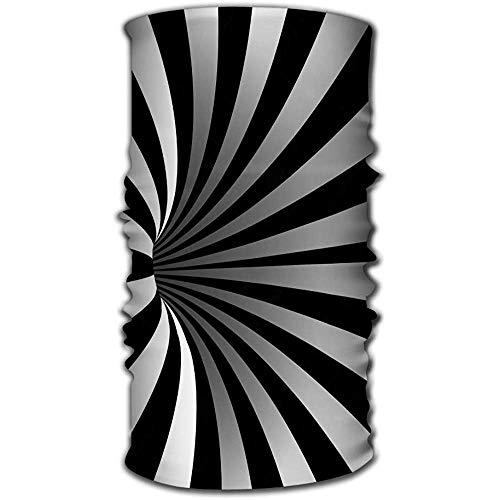 Unisex-Schal Wrap Bandanna Hals Gamaschen Kopftuch Spiral Vortex Illusion optische Kunst Bewegung gestreiften Tunnel Windung geometrische magische Loch-Effekt Bewegung ausgeführt