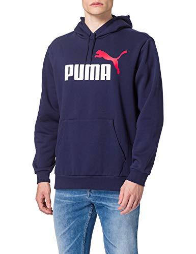 PUMA ESS 2 Col Hoody FL Big Logo Sudadera con Capucha, Hombre, Azul, L