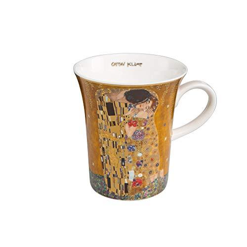 Goebel - Der Kuss - Künstlerbecher - Mug - Bone-China- Porzellan - Goldauflage - Gustav Klimt 0,4 l