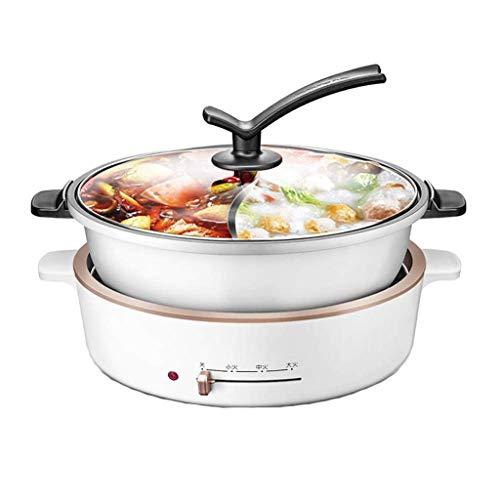 DYXYH Hot Pots multi-Cuisinières Skillet Cuiseurs à riz, multi-fonction de cuisson électrique Feu de Split Ascenseur Hot Pot Pot Plug-in facile Nettoyage Performant Timing