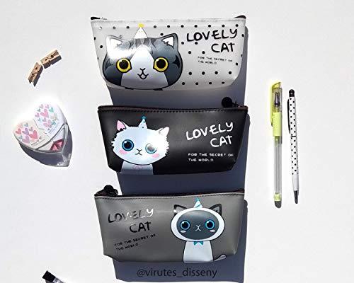 Neceser Gatos // Ideal cómo porta todo // Estuche para el colegio // Impermeable // Cabe el móvil, las llaves y lo que necesites // Sugerencia de regalo // Precio de 1 unidad: Amazon.es: Handmade