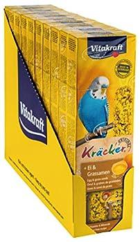 Vitakraft Kräcker Œuf Graines de Graminées Perruches - Lot de 10 Paquets de 2 Kräckers