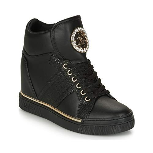 Guess Scarpe Donna Sneakers con Zeppa Interna FL5FREELE12 Nero Taglia 35 Nero