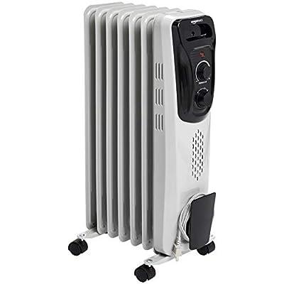 AmazonBasics Indoor Portable Radiator Heater - White
