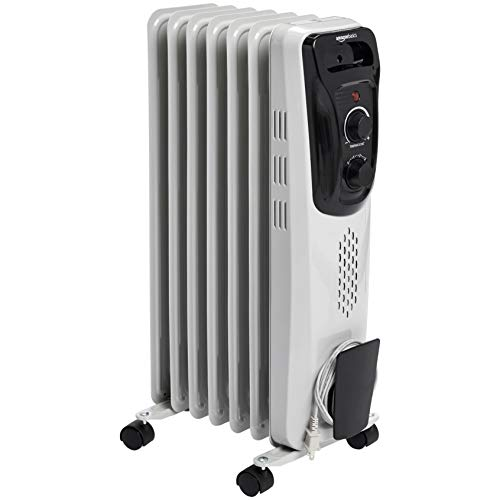AmazonBasics Portable Radiator Heater, White