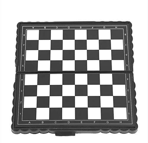 GXMZL Tablero de ajedrez portátil - Juego de ajedrez magnético portátil de plástico Plegable Juego de ajedrez for Actividades Familiares de Fiesta