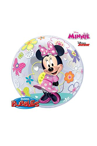 Qualatex 41065 Single Bubble Disney Minnie Mouse Leren spel Latex Ballon, 22
