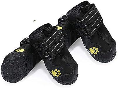 yorten 4PCS Zapatos para Perros, Botas Impermeables para Perros con Suela Antideslizante Resistente Protegiendo Las Patas de Perros