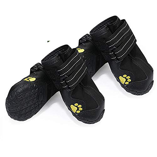 yorten 4PCS Zapatos para Perros, Botas Impermeables para Per
