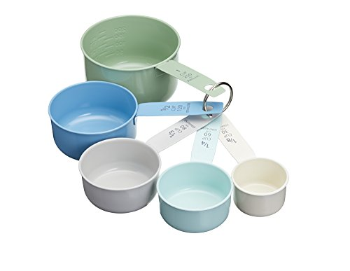Kitchen Craft LNMEASSPOON Living Nostalgia Vintage-Style Stainless Steel Measuring Cups-Multi-Colour (Set of 5), 8,5 x 8 x 15,5 cm