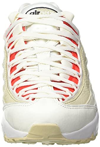 Nike Wmns Air MAX 95, Zapatillas Deportivas Mujer, Sail Black Chile Red Coconut Milk, 37.5 EU
