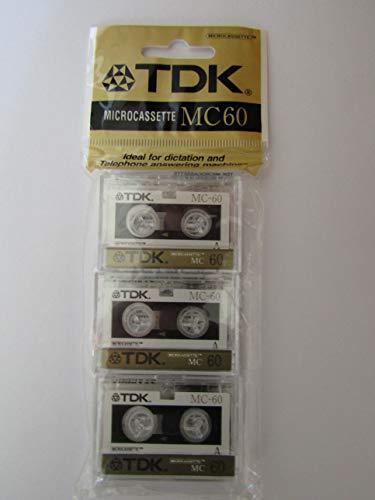 TDK MC-60 cinta de casete Audio cassette 60 min 3 pieza(s) - Cinta de audio/video (60 min, 3 pieza(s))