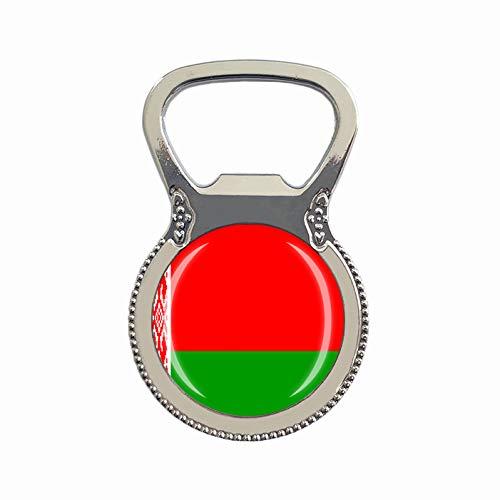 Bierflaschenöffner, Motiv: Weißrussland-Flagge, Kühlschrankmagnet, Metall, Glas, Kristall, Reise-Souvenir, Geschenk, Heimdekoration