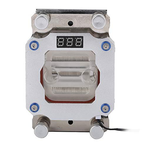 Tonysa Bloque de Refrigeración por Agua de la CPU del Ordenador, Bloque de Agua con Pantalla de Temperatura para AMD