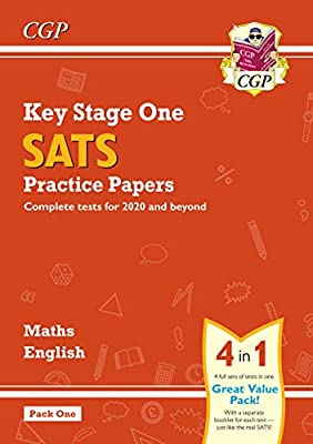 New KS1 Maths and English SATS Practice Papers Pack (for the 2019 tests) - Pack 1 (CGP KS1 SATs Practice Papers) by Coordination Group Publications Ltd (CGP)