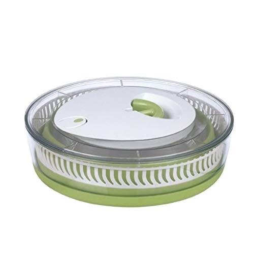 Einfaches Entwässerungssystem für eine kompakte Lagerung - mit einer Schüssel Wasch Salat und Trockenmaschine Zugschnur Gemüsewäscher und Salatschleuder,Grün