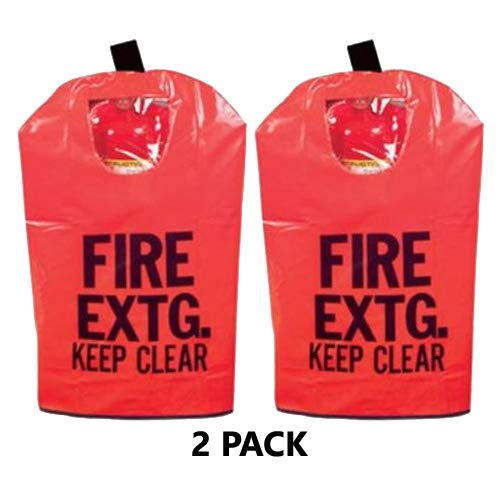 2 - FIRE Extinguisher Cover (with Window) for 10 to 20lb. Extinguishers, Medium 25
