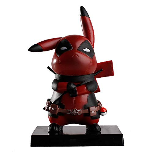 Pikapool Pikachu Cosplay Deadpool Model Gifts, Anime Action Figure Toys Gifts