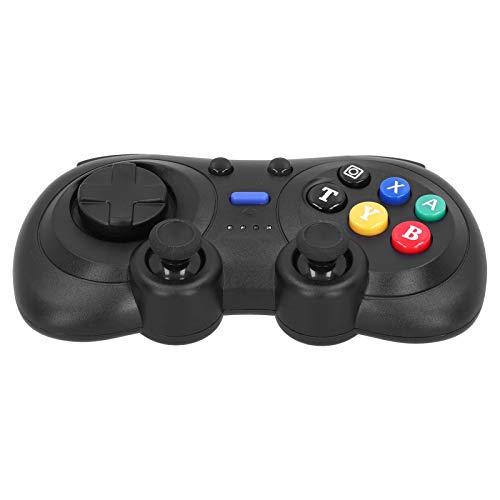 FOLOSAFENAR Gaming Joystick Kleine Interferenz Turbofunktion Dual Impact Wireless Gamepad Stabile Signalverbindung, für Switch Console, für Windows PC(Black Color Box Packaging)