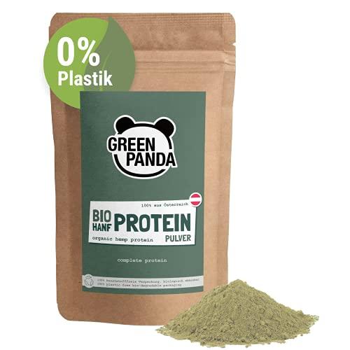 Proteínas de cáñamo orgánico en polvo con 50% de proteínas vegetales, semillas de cáñamo molidas, proteínas de cáñamo orgánico probadas y certificadas, ideal como proteína vegana en polvo, 500 g