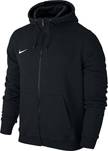 Nike Herren Sweatshirt Team Club Full Zip Hoody, Black/White, L