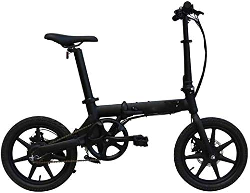 Electric Bike Electric Mountain Bike 16 inch Folding Electric Bikes,Aluminum alloy intelligent Bikes LCD liquid crystal instrument ACS cruise system Outdoor Cycling Travel Lithium Battery Beach Cruise