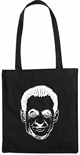 Mister Merchandise Tasche Sarkozy Stofftasche, Farbe: Schwarz